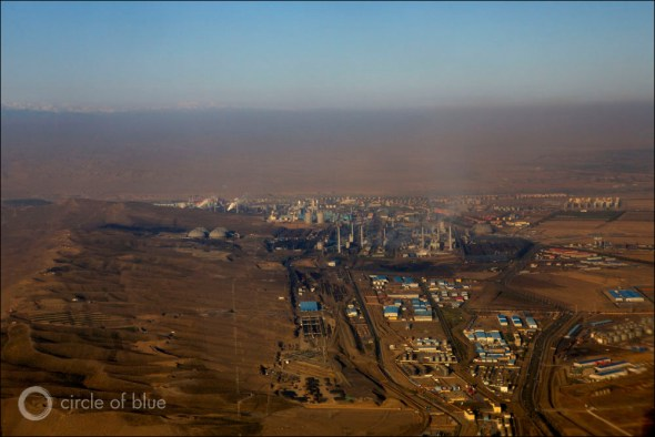 China Urumqi city air quality rating smog pollution desert northwest coal industry plant coal-to-chemicals manufacturing water energy Circle of Blue Wilson Center China Environment Forum J. Carl Ganter