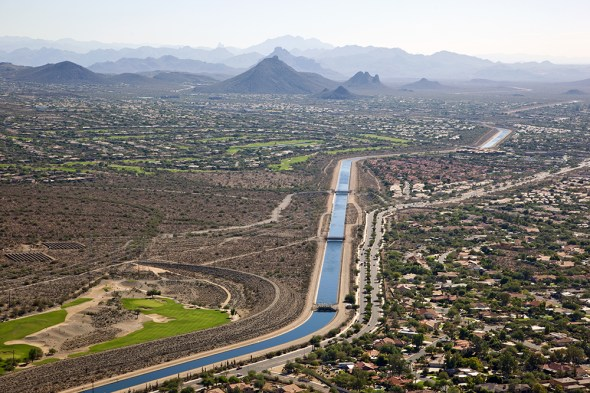 water stress urban water supply drinking water Central Arizona Project canal