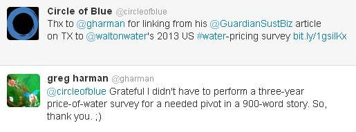 Texas Guardian Sustainable Business Brett Walton Twitter Tweet Greg Harmon Circle of Blue