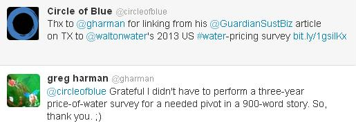 Texas Guardian Sustainable Business Brett Walton Twitter Tweet Greg Harmon Circle of Blue