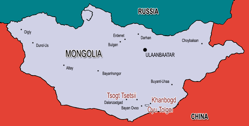 Mongolia Copper Mine At Oyu Tolgoi Tests Water Supply And Young - Us government map of mongolia 1 500000