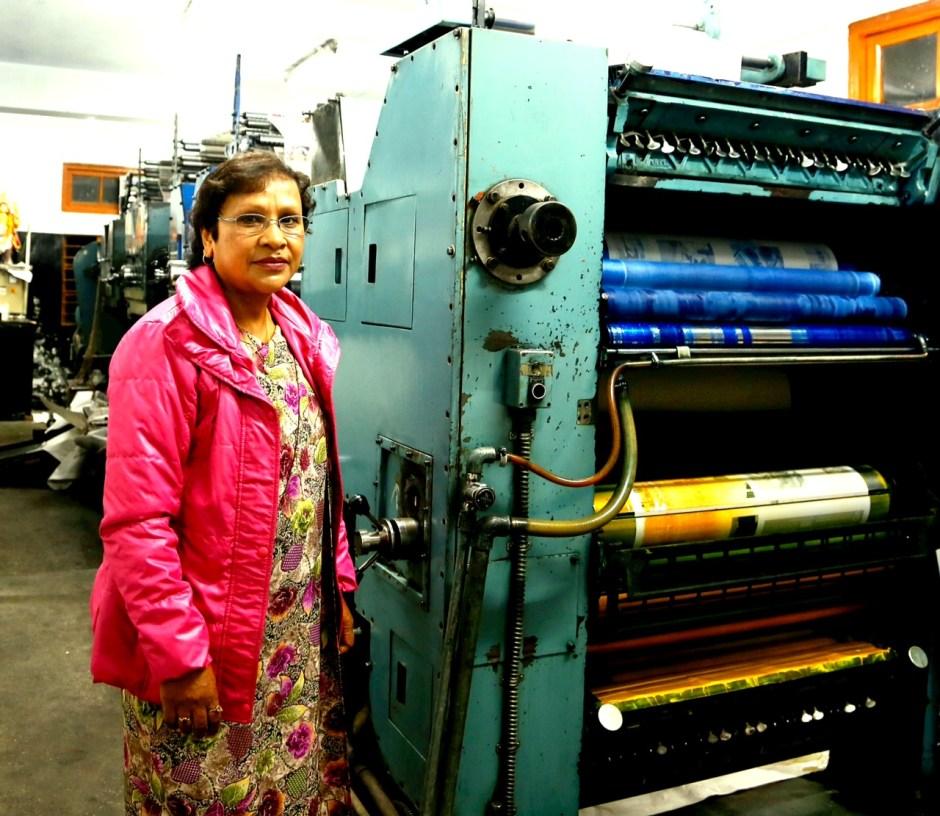 Patricia Mukhim, editor of the Shillong Times. Photo by Dhruv Malhotra.