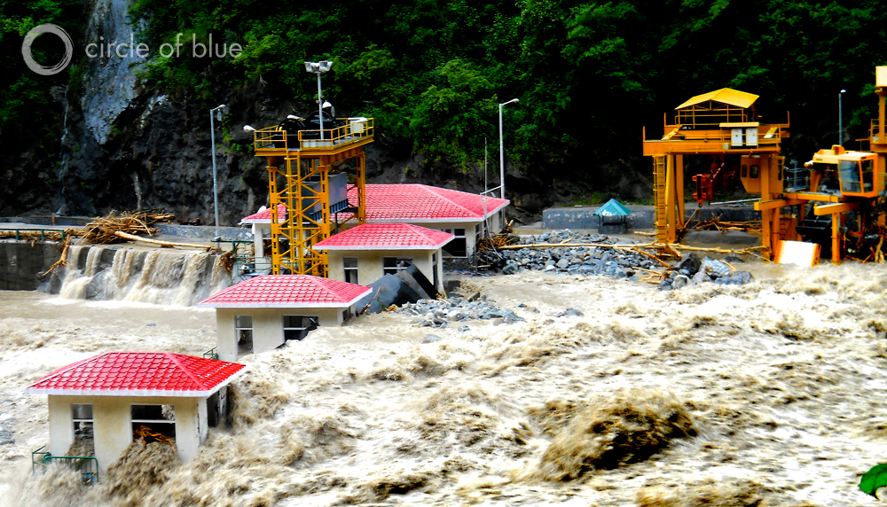 The Uttarakhand flood exceeded every previous high-end boundary of water surge, infrastructure failure, and survivability. At the Vishnuprayag Hydroelectric Project on the Alaknanda River, floodwaters surged over the 55-foot tall dam and boulders buried it in 60 feet of rubble.