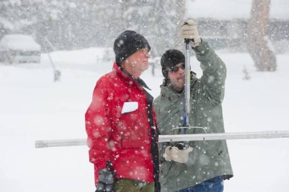 California drought snowpack water supply precipitation Sierra Nevada snow survey