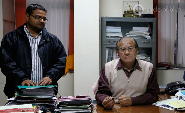 "Sitting at his desk in Jaipur, B.K. Mahija, the technical director of the Rajasthan Renewable Energy Corporation, oversee a public agency staffed with young engineers and challenged by relentless paperwork . ""All day this goes on,"" he says. ""The phone rings and I sign memos."""