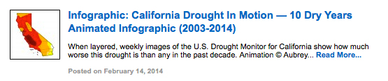Infographic: California Drought In Motion — 10 Dry Years Animated GIF (2003-2014)
