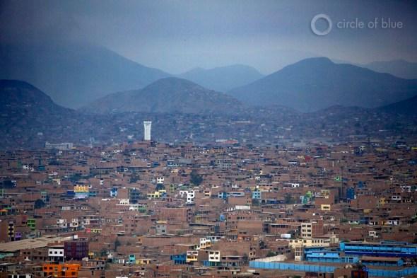 Lima Peru water scarcity desert city rainfall climate change water supply