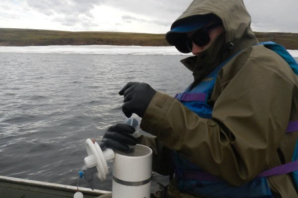 Toolik Lake Alaska Arctic gas sampling