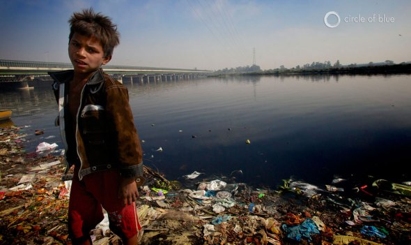 A decade after India regularly exceeded eight percent annual economic growth, and the nation was seen globally as the next industrial and high-tech juggernaut, India is slipping badly.  Contamination from sewage and chemicals in the Yamuna River in New Delhi make it one of the most polluted rivers in the world.
