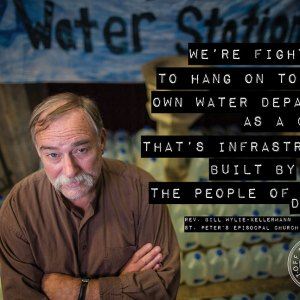Reverend Bill Wylie-Kellerman St. Peter's Episcopal Church Detroit Water Shut off The People's Water Board