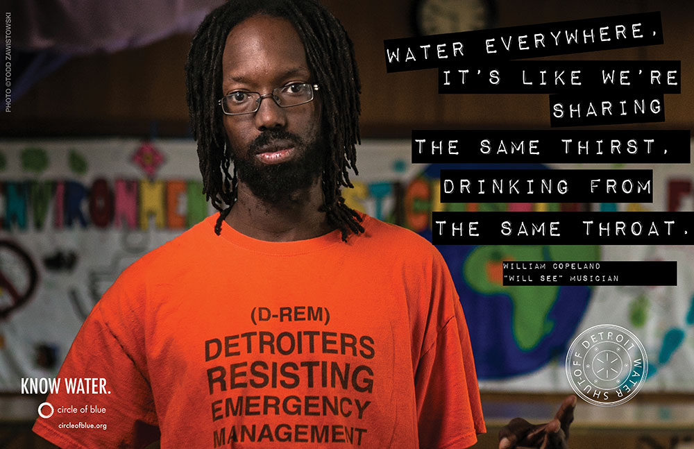 William Copeland Will See Hip Hop Music Artist EMEAC East Michigan Environmental Action Coalition Detroit Water Shut off Water Warrior