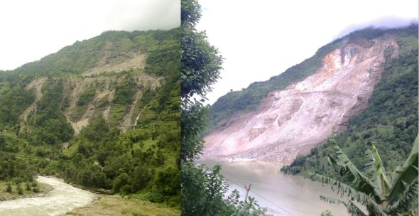 Sun Koshi River Nepal landslide hydropower natural disaster