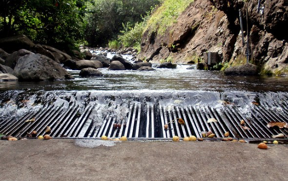 Iao Stream water diversion Maui Hawaii