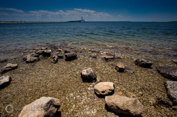 Mackinac Bridge Lake Michigan Lake Huron Straits of Mackinac Line 5 oil pipeline Enbridge Great Lakes J. Carl Ganter Circle of Blue