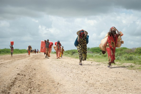Jowhar African Union Mission for Somalia AMISOM  famine food crisis internally displaced people floods drought