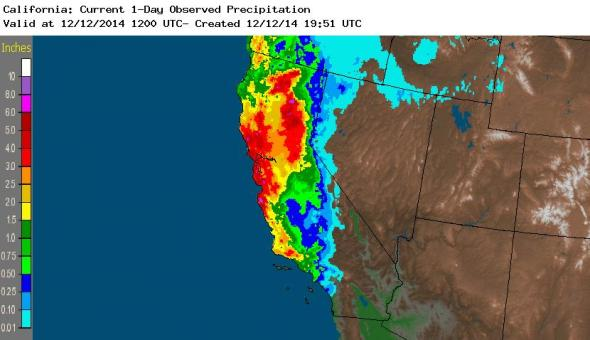 California drought pineapple express precipitation