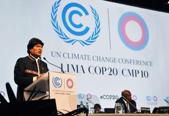 Lima COP20 Peru climate change Evo Morales