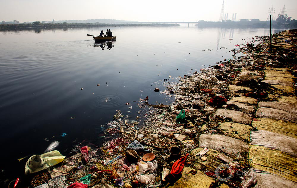 The Yamuna River, a tributary of the Ganga