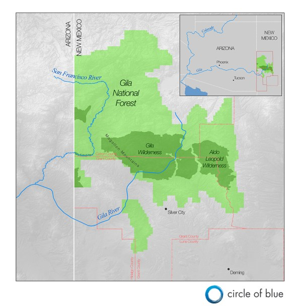 Gila River New Mexico graphic watershed map