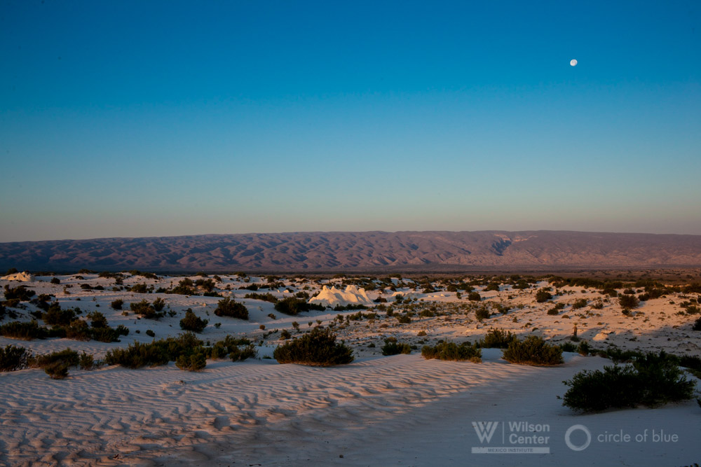 Dunas de Yeso Mexico Laguna Churince sand dunes sunset janet jarman circle of blue choke point