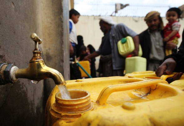 Yemen blockade drinking water supply sanitation WASH civil war Sana Water Corporation Amanat Al Asima  UNICEF European Commission ECHO