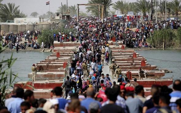 Iraq Ramadi Islamic State refugees Al-Anbar civilian fighting