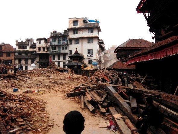 Nepal earthquake Gorkha Kathmandu debris April 25 L. Dan Stewart Peace Corps Circle of Blue