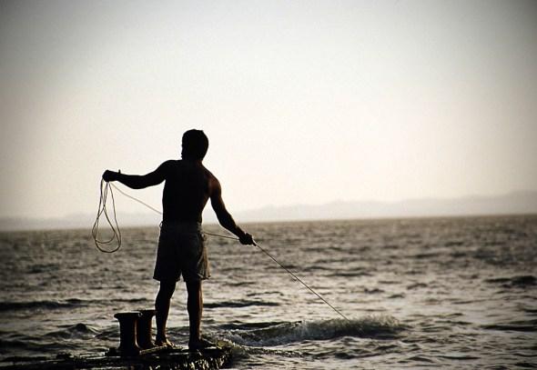 Lake Nicaragua canal Ometepe Island water fishing fisherman fishermen fisheries dredging sediment disposal