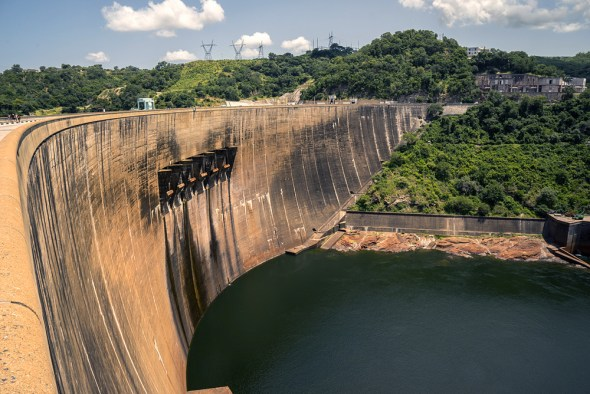 Zambia Zimbabwe Kariba Dam North Bank station hydropower Zambezi River water levels drought electricity shortage energy Africa Adam Ojdahl