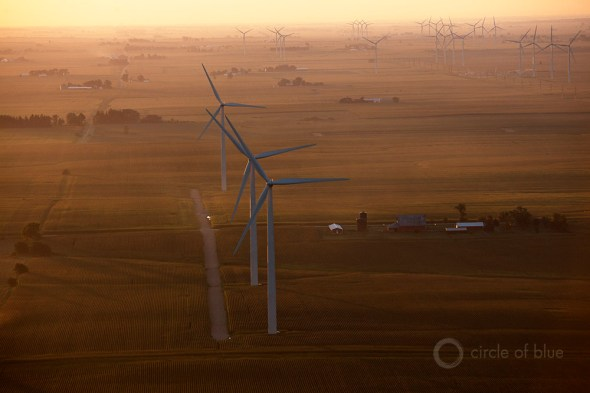 wind farm Illinois renewable energy clean power field midwest carl ganter circle of blue