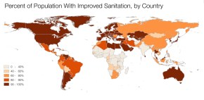 Kaye LaFond sanitation access population world map 2015 Millennium Development Goals Sustainable Development Goals Q&A Circle of Blue