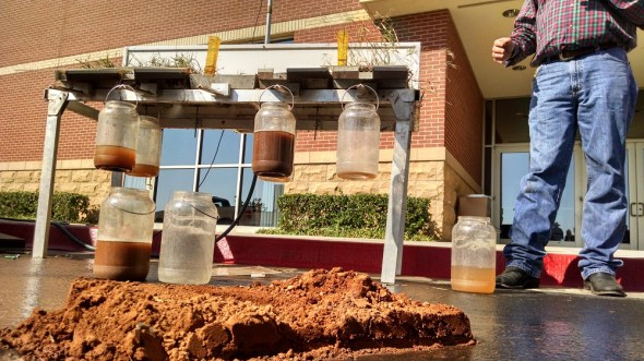 rainfall simulator soil runoff agriculture groundwater recharge SEJ Norman Oklahoma circle of blue
