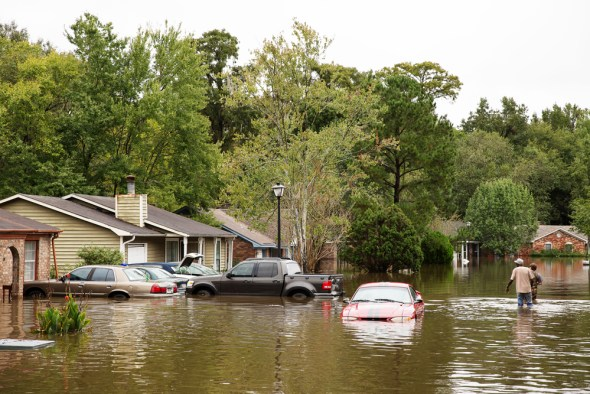 North Charleston South Carolina floods Hurricane Joaquin flooded street stormwater