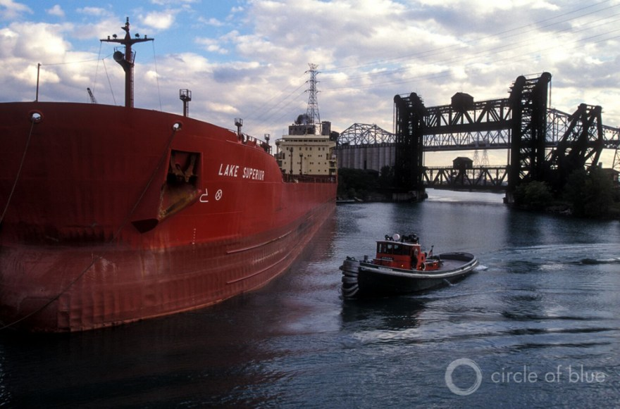 Great Lakes shipping freighter Laker Lake Superior J. Carl Ganter