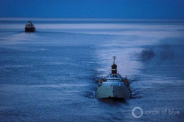 Great Lakes St. Lawrence Seaway shipping freighter Laker J. Carl Ganter