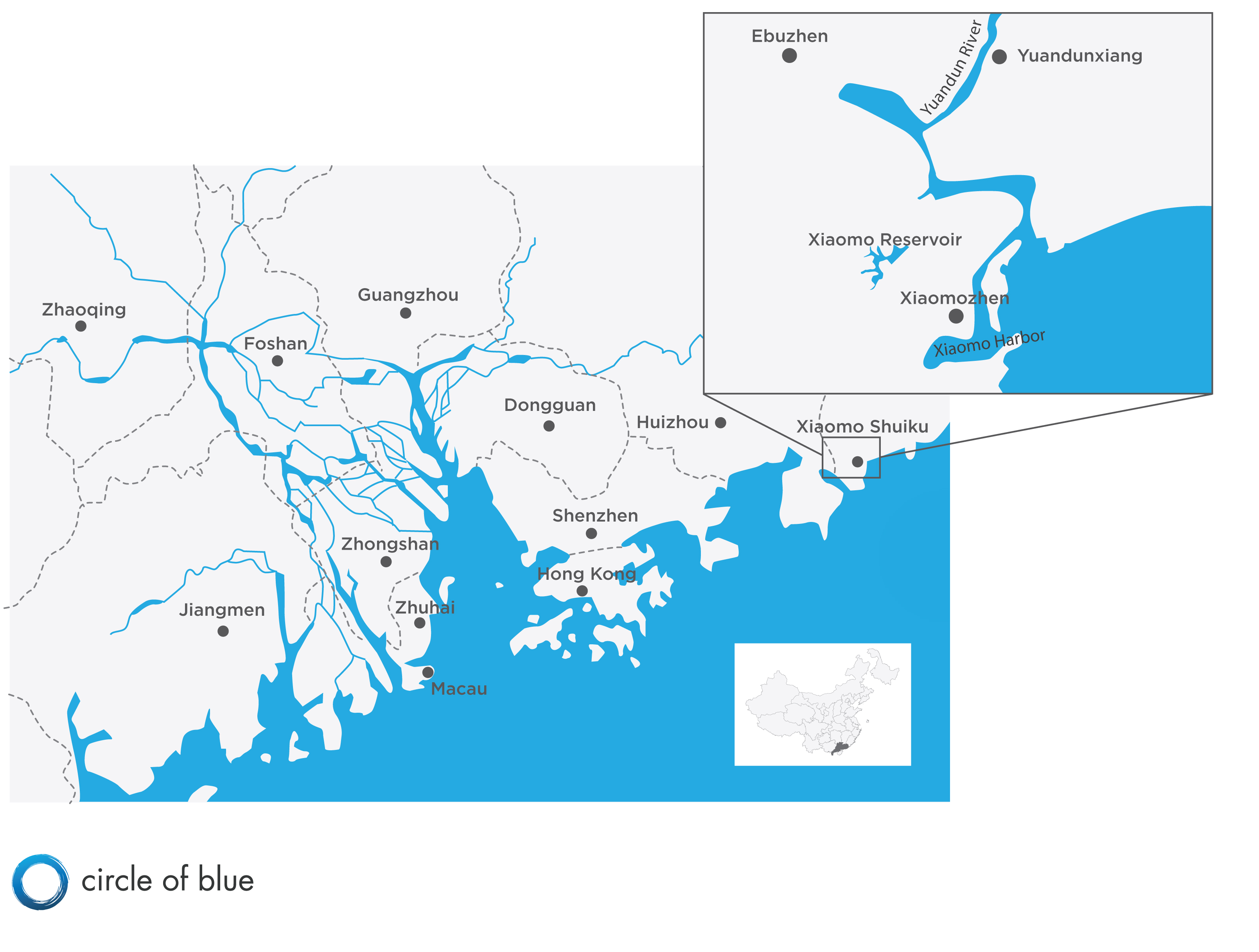 Shenzhens new path to sustainability is crowded with obstacles map infographic pearl river delta china shenzhen circle of blue economic development gumiabroncs Image collections