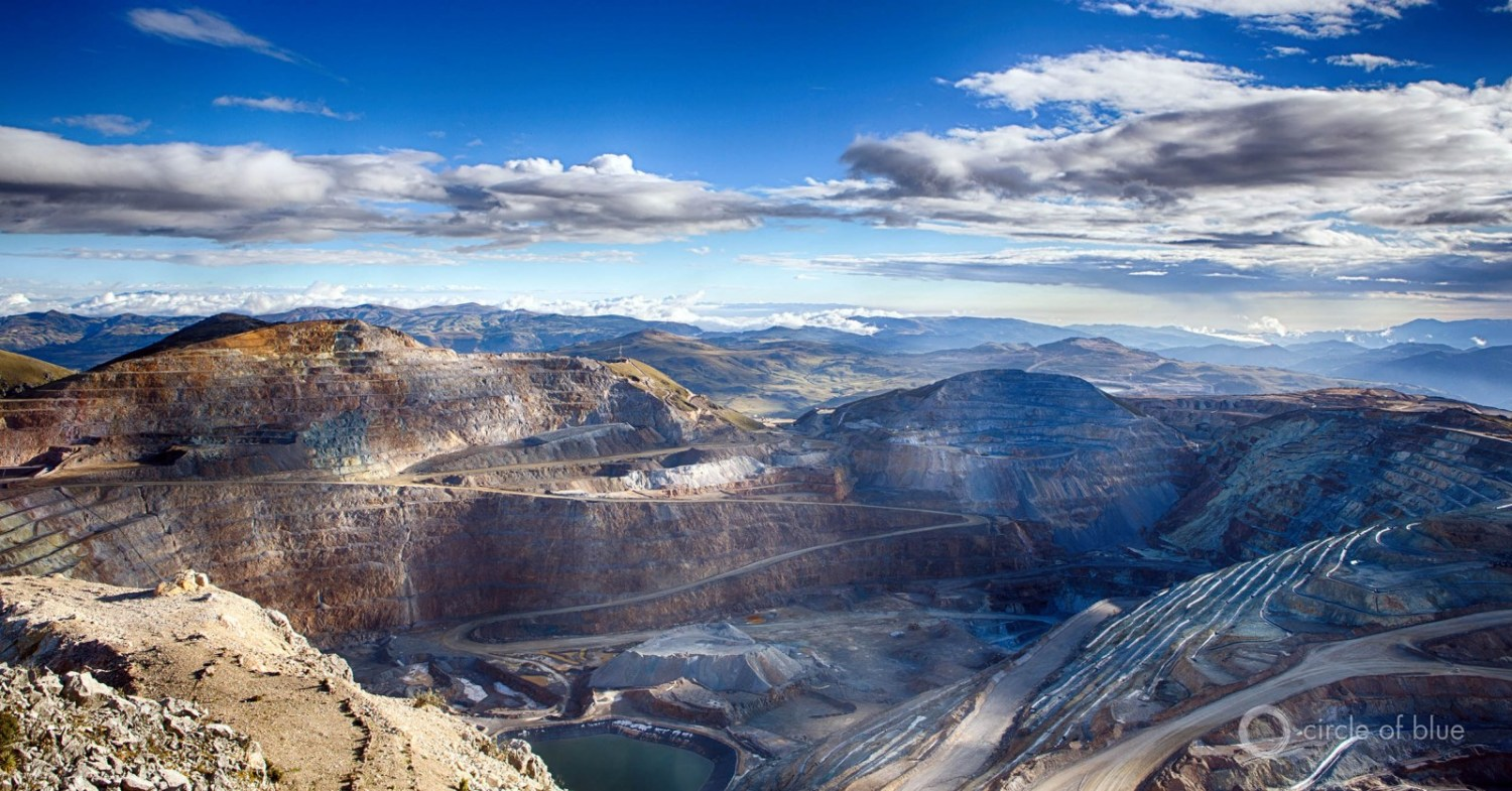 Newmont Mining Corporation's Yanacocha mine, in the Andes near Cajamarca, Peru, is the world's second largest gold mine. Development of its sister Conga gold mine nearby was halted due to civic opposition over water supply and pollution. Photo © J. Carl Ganter / Circle of Blue