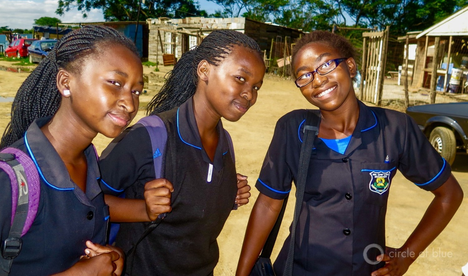 Schoolgirls from an informal settlement in Durban.