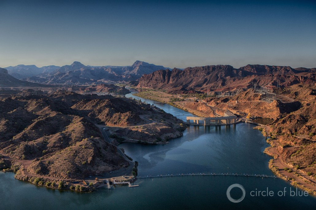 Downstream of Lake Mead, the Colorado River flows into Lake Havasu, a reservoir on the California-Arizona border. Photo © J. Carl Ganter / Circle of Blue