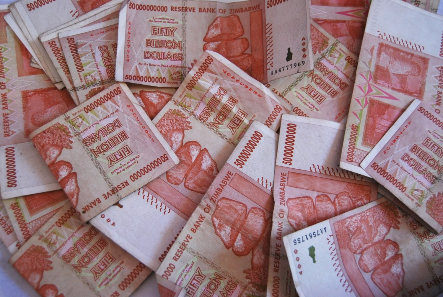 A hyperinflation crisis in Zimbabwe in 2009 forced the government to abandon the country's local currency. Zimbabwe's economy, however, remains weak. Photo courtesy Baynham Goredema via Flickr Creative Commons.
