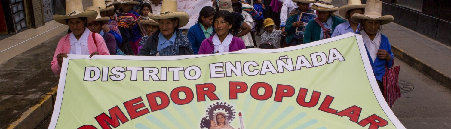 Campesinos demonstrated against the Conga mine in Cajamarca in June 2014.