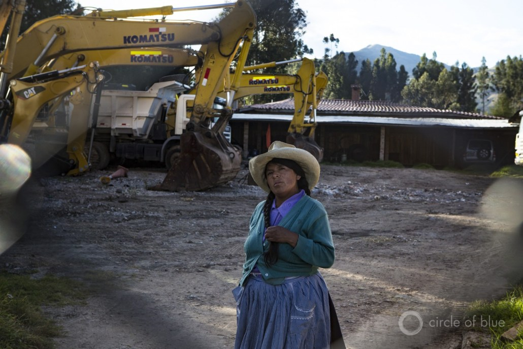 After Newmont suspended operations at the Conga mine in 2011, Cajamarca slipped into recession. Idle mining equipment was stored in depots.