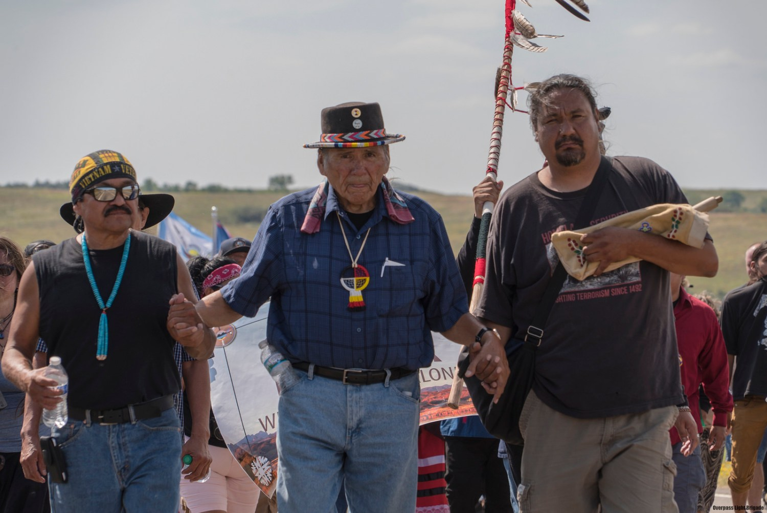 The Standing Rock Sioux Tribe's campaign to block the Dakota Access Pipeline from crossing the Missouri River has attracted support from across the United States, and around the world. Photograph by, Joe Brusky