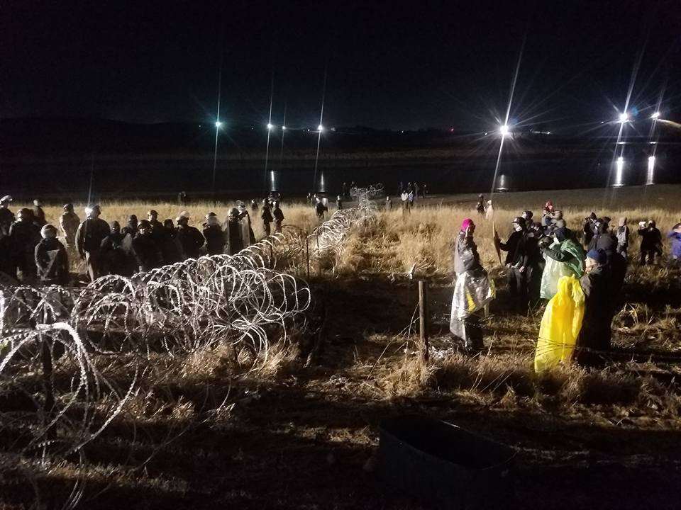 "2,000 veterans are scheduled to arrive in North Dakota to establish what they call a ""human shield"" to protect the thousands of peaceful Water Protectors from police brutality. Photograph by, Lee Sprague"