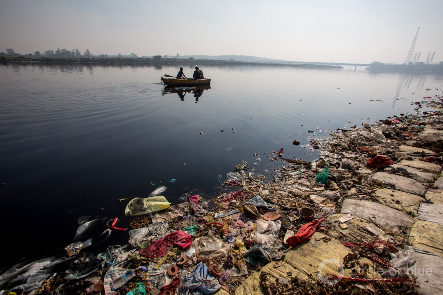 The Yamuna River flows through Delhi, the capital of India. The world's second most populous country faces severe water and climate challenges. Photo © J. Carl Ganter / Circle of Blue