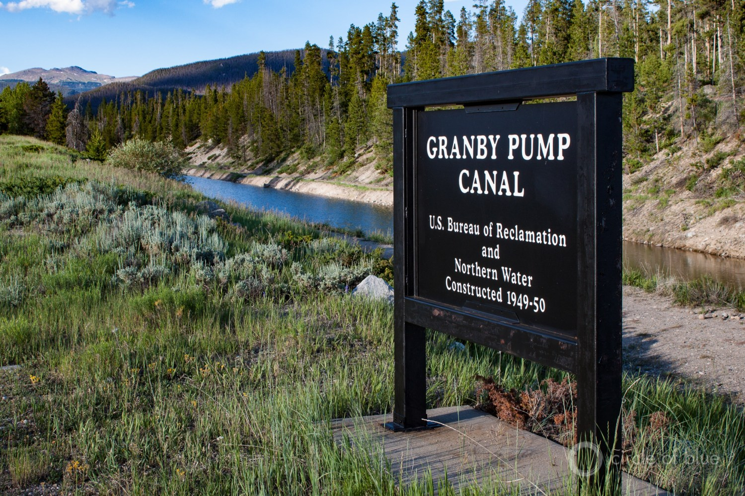 The Bureau of Reclamation owns more than 8,100 miles of canals, including the Granby Pump Canal, in Colorado. Photo © Brett Walton / Circle of Blue