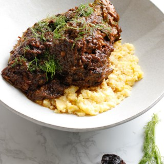 Mediterranean Shortribs with Polenta