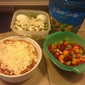 food, baked ziti, shared by a neighbor