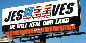 Jesus saves billboard
