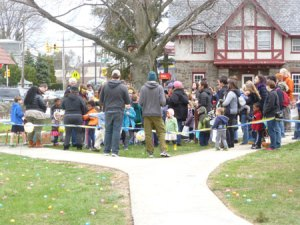 Circle of Hope egg hunt on Ridge Avenue in Philadelphia